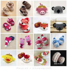 Crochet Pattern Baby Booties Preemie Shoes Newborn Socks Home Slipper Baby Accessories Clothing Tutorial by Crochet Pattern Kittying from Kittying.com / Mulu.us