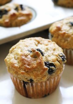 Blueberry Leftover Oatmeal Muffins