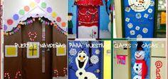 Resultado de imaxes para como forrar la puerta en navidad?