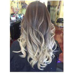 Ash Blonde Ombre Hair