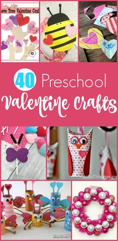 40 Easy Preschool Valentine Crafts - Moms are Frugal