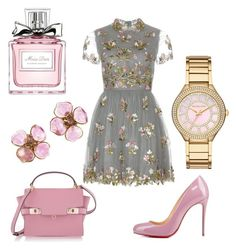 """""""pink"""" by martyswordrobe ❤ liked on Polyvore featuring Valentino, Christian Louboutin, Henri Bendel, Chanel, Michael Kors and Christian Dior"""