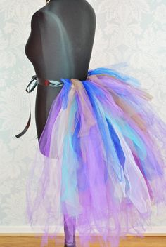 Bustle Belt,Half Tutu,Bustle Tutu,Black Tutu,Peacock Tutu,Burlesque Skirt,Fun RunTulle Skirt,Hen Party Skirt,Adult Bustle Skirt,Tulle, Skirt