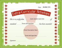 Certificate of achievement template for ms word download at http extracurricular activity award certificate template for ms word download at httpcertificatesinn yadclub Image collections