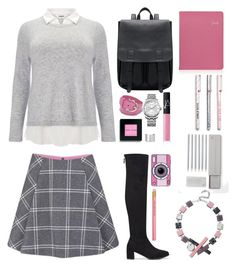 """too cool for school"" by dianakhuzatyan ❤ liked on Polyvore featuring Studio 8, Paul & Joe Sister, Salvatore Ferragamo, Calvin Klein, NARS Cosmetics, Bobbi Brown Cosmetics, Maison Margiela, Yazbukey, GiGi New York and Eshvi"