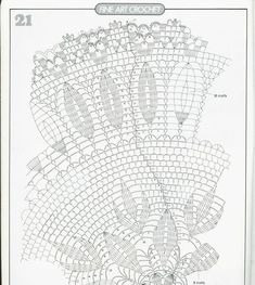 Lace round napkin