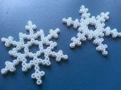snowflakes, hamabeads, christmas