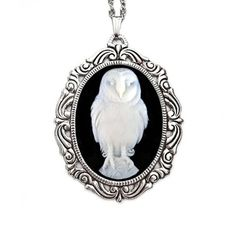 Owl Cameo Rococo Necklace by Couture by Lolita