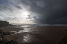 Dark and stormy, Watergate Bay Cornwall © Luke Hayes