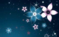 Glowing flowers wallpaper Wallpaper Wide HD