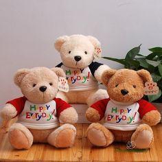 Gấu bông teddy áo Happy Everyday chất liệu 100% bông PP an toàn cho người dùng. Kiểu dáng ngỗ nghĩnh rất dễ thương với bộ lông mềm mại. Hàng Nhập khẩu cao cấp