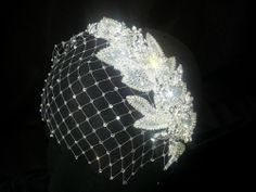 Wedding Birdcage Veil - Bridal Bandeau Veil - Bridal Headband - Headpiece