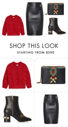 """""""Untitled #4096"""" by michelanna ❤ liked on Polyvore featuring Brunello Cucinelli, Gucci and Moschino"""