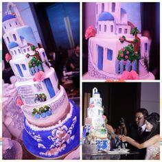 Santorini wedding cake from December 2013