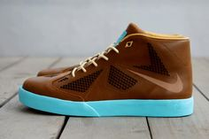brown & sky blue Nike by LeBron James > http://thehypebr.com/2013/04/05/nike-lebron-x-nsw-lifestyle/