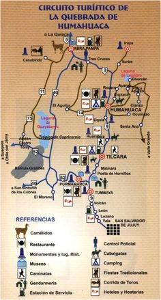 Quebrada de Humahuaca Map. Places you can visit while you are in Jujuy. ~lbk~