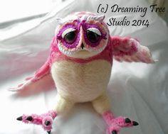 """OOAK Needlfelted Art Doll 'Owlie' """"Rosebud"""" https://www.etsy.com/shop/dreamingtreestudio?section_id=10088114&ref=shopsection_leftnav_6"""