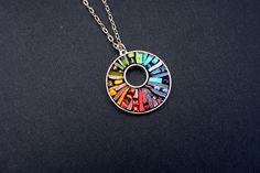 Rainbow Chakra Glowing Glass Micro Mosaic by CrookedMoonMosaics