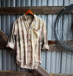 Grey and tan distressed vintage flannel for fall 2017 from Mad Mary's Boutique.