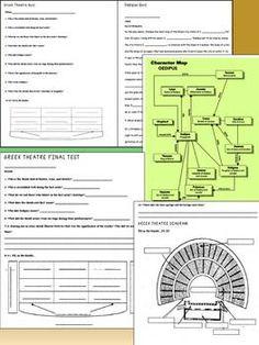 Greek Theatre: Quizzes, Test, Puzzles, Printables, Mask Pr