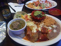 #manikinhead #food Mexican Combination Plate