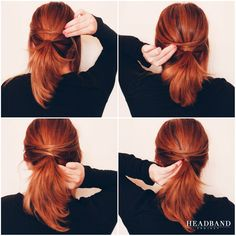 LOW PONYTAIL  #Headband Project Hairstyle Tutorial.