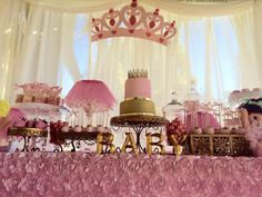 little princess baby shower cake, Tutu and Tiara Baby Shower, tutu baby shower decorations, dessert table decor