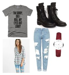 """Untitled #154"" by brooklynn-juedeman ❤ liked on Polyvore featuring Topshop, Chanel, Express and Burberry"