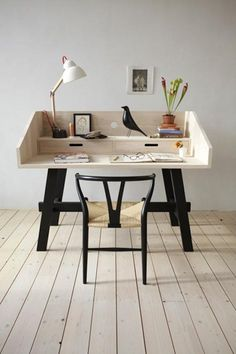 """We love the simplicity of the side tables and desks in the Mun Collection by Dutch company SlowWood. The goal of designer Christien Starkenburg is to create """"timeless pieces of quality furniture with a raw natural elegance and a low impact on our planet."""