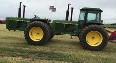 . Vintage Tractors, Old Tractors, John Deere Tractors, Agriculture Tractor, Rubber Tires, New Trucks, Steam Locomotive, Tandem, Vintage Colors
