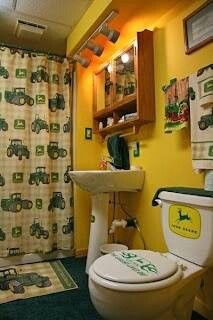 for the John Deere fans...this would be awesome for the bathroom in the shop!