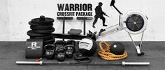 Warrior Crossfit Package...I need to find some space in the garage... Crossfit Garage Gym, Crossfit Equipment, Home Gym Equipment, No Equipment Workout, Basement Gym, Rogue Fitness, Olympic Weightlifting, Gym Essentials, Medicine Ball