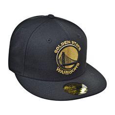 New Era Golden State Warriors NBA 59Fifty Men's Fitted Hat Cap Black/Gold
