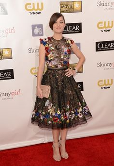 marion cotilliard- stunning in evening wear: beautifully embellished floral gown.