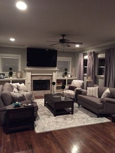 46 ideas for dark wood floors living room furniture crown moldings Dark Wood Floors Living Room, Living Room Shelves, Cozy Living Rooms, Living Room Grey, Home Living Room, Apartment Living, Living Room Designs, Living Room Decor, Apartment Ideas
