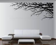 Ramas de árbol pintadas sobre pared (Google)