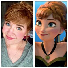 Anna Frozen Coronation Hair and Makeup Tutorial