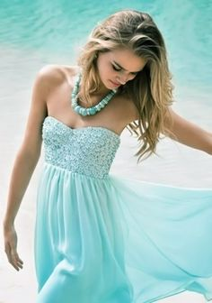 Aqua Dress pearl necklace