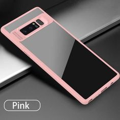 Full Protective Case for Samsung Galaxy Note 8 Fitted Cases Ultra thin TPU & Acrylic Slim Transparent Back Cover Phone Shell