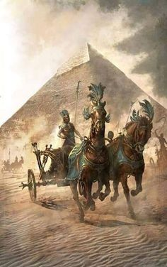 """[image] Title: Chariot Name: Wojciech Ostrycharz Country: Poland Software: Photoshop This is banner from the project: """"Secrets of Egypt"""". Illustration made in … Ancient Egypt Art, Old Egypt, Ancient History, Egyptian Goddess, Egyptian Art, Osiris Tattoo, Ancient Civilizations, Egyptians, Oil Painting On Canvas"""