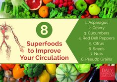Your diet has a huge impact on your body's ability to function! Click here and find out some of the best foods you can eat to improve your circulation.