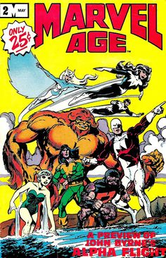 Marvel Comics of the 1980s: 1983 - Marvel Age #2 - Alpha Flight Interview with...