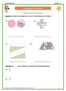 Grade 6 Maths: Workbook 5 - Common Fractions