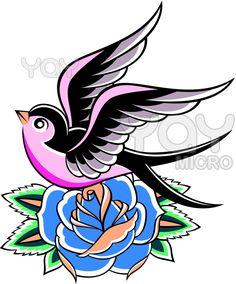 traditional tattoo swallow - Google Search