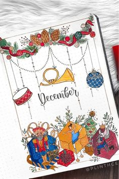 30 best DECEMBER monthly cover ideas to add some festive vibes to your bullet journal! Bujo, Christmas Doodles, Christmas Cards To Make, Bullet Journal Christmas, Christmas Tree Cookies, Hello December, Bullet Journal Inspiration, Journal Ideas, Cute Cookies
