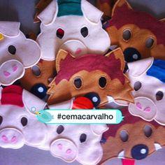 Porquinhos e lobinhos já passaram por aqui tb...  #cemacarvalhohandmade…
