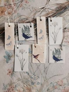 Birds & Botanical - Tags by Kettle of Fish