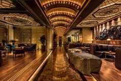 Speakeasy-style Charles H at the Four Seasons Hotel Seoul. Design by AvroKO…