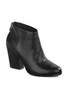 Shoes | Ankle Booties | Dey Leather Block Heel Bootie | Hudson's Bay