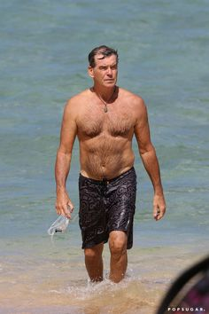 Pin for Later: The Sexiest Shirtless Moments of 2015! Pierce Brosnan
